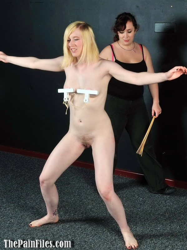 Bizarre lesbian excercises and femdom spanking of sexy blonde fetish pornstar Satine Spark