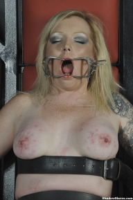 Angels tower of pain and sensory deprivation in tit torture and blindfolde pussy punishments of tattoed blonde amateur bdsm slave girl in mummified bondage - BDSM and Pain