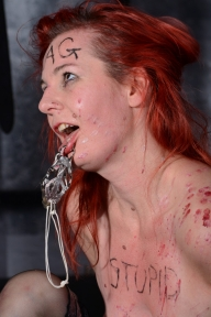 Humiliated spanky Alices amateur bdsm and face punishment of redhead submissive whipped and degraded mercilessly in bodypainting and cruel sadomasochistic session - Bizarre and Humiliation