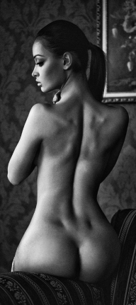 Back dimples. - Sexy Brunette Babe
