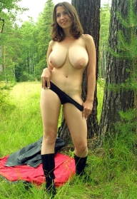 milf big tits - outdoor