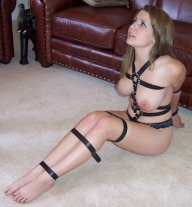 bondage on floor - BDSM