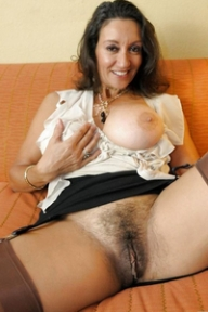 hot milf with amazing hairy vagina and sexy boobs  - HAIRY