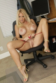 blonde busty women in a hot pose  - BLONDE