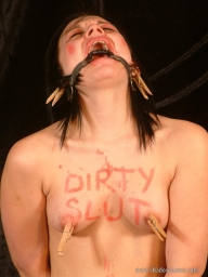 Teens messy sextoy humiliation and bizarre domination of bodywriting amateur slut  - Bizarre and Humiliation
