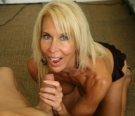 Horny gran giving a hand job - Handjob