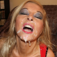 blondie blow » Blondie Blow Covered In Cum - covered in cum