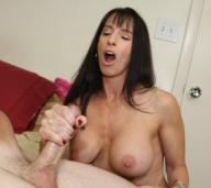 milf handjobs » Bibette Blanche stroking a hard cock till it explodes - Handjob