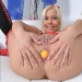 hot anal gaping - hot blonde anal ball insertion and ass gape